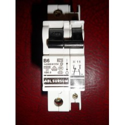ABL SURSUM 6A SINGLE POLE MCB WITH AUXILIARY CONTACT BLOCK