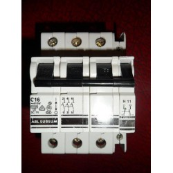 ABL SURSUM 16A TRIPLE POLE MCB WITH AUXILIARY CONTACT BLOCK