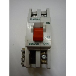 Crabtree SB6000 100a Double Pole Main Switch