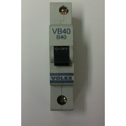 Volex VB40 40A Single Pole MCB