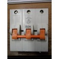 FEDERAL ELECTRIC STAB LOK 50AMP TRIPLE POLE MCB