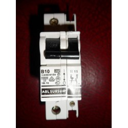 ABL SURSUM 10A SINGLE POLE MCB WITH AUXILIARY CONTACT BLOCK