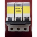 SQUARE D QOE 20A TYPE C TRIPLE POLE MCB