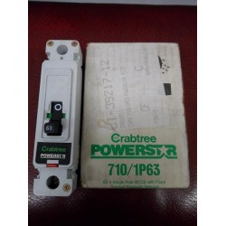 CRABTREE POWERSTAR 710/1P63 63A SINGLE POLE MCCB