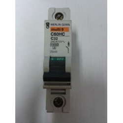 Merlin Gerin C60H 2A - 63A Single Pole Mcb