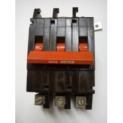 Crabtree C50 100a Three Phase Main Switch