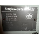 SIMPLEX  CIRCULUME 5FT TWIN EXPLOSION PROOF LIGHT FITTING
