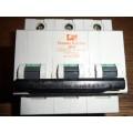 FEDERAL ELECTRIC STABLOK 32AMP TYPE C TRIPLE POLE MCB