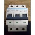 HAGER NB350 50AMP TYPE B TRIPLE POLE MCB
