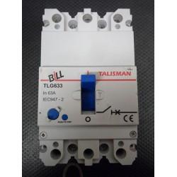 BILL TLG633 63A TRIPLE POLE MCCB